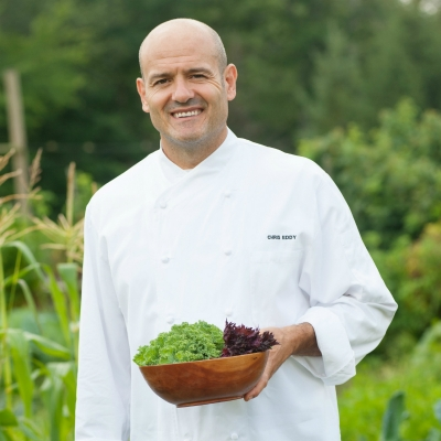Chef Eddy in Garden 3 - Winvian Farm